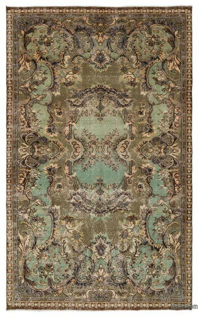 Turkish Vintage Rug - 5'4'' x 8'7'' (64 in. x 103 in.)