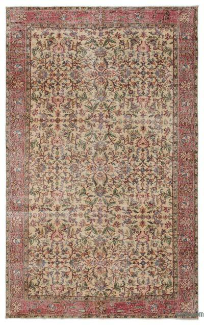 Turkish Vintage Area Rug - 5'10'' x 9'3'' (70 in. x 111 in.)