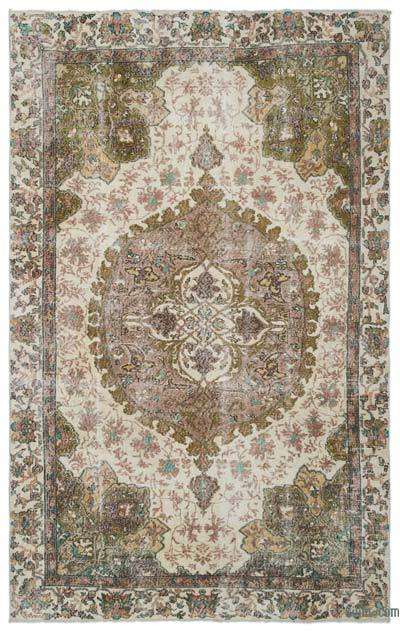 Turkish Vintage Area Rug - 6'7'' x 10'5'' (79 in. x 125 in.)