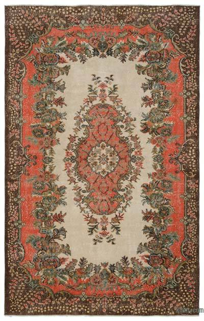 "Turkish Vintage Area Rug - 6'6"" x 10'1"" (78 in. x 121 in.)"