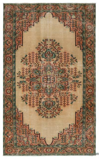 "Turkish Vintage Area Rug - 5'2"" x 8'5"" (62 in. x 101 in.)"