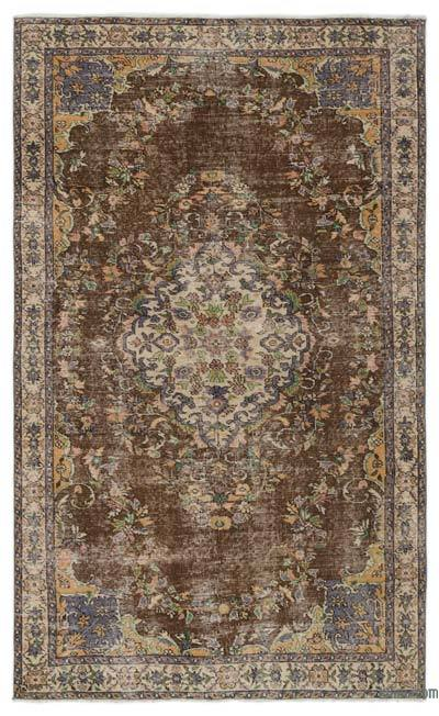 Turkish Vintage Area Rug - 4'10'' x 8' (58 in. x 96 in.)