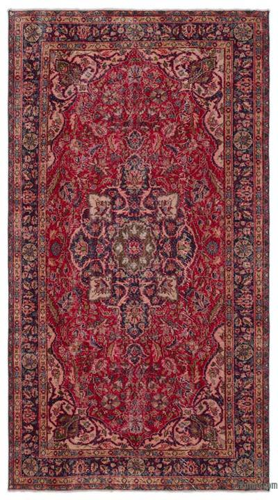 Turkish Vintage Area Rug - 5'3'' x 9'11'' (63 in. x 119 in.)