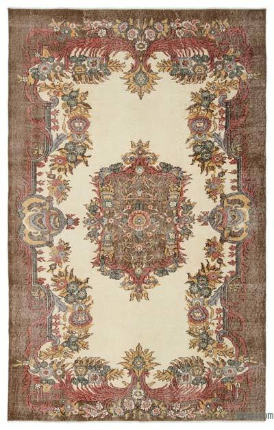 Turkish Vintage Area Rug - 5'8'' x 8'10'' (68 in. x 106 in.)