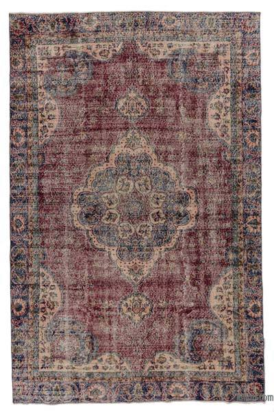 Turkish Vintage Area Rug - 6'2'' x 9'7'' (74 in. x 115 in.)