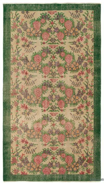 Turkish Vintage Area Rug - 3'8'' x 6'7'' (44 in. x 79 in.)