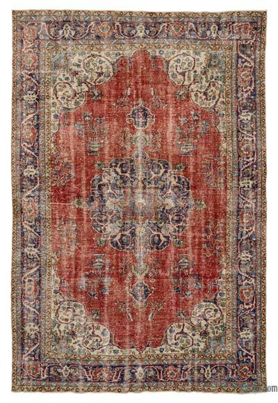Turkish Vintage Area Rug - 7'1'' x 10'5'' (85 in. x 125 in.)