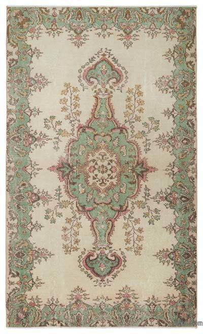 Turkish Vintage Rug - 5'7'' x 9'4'' (67 in. x 112 in.)