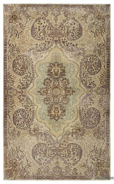 Turkish Vintage Area Rug - 5'9'' x 9'3'' (69 in. x 111 in.)