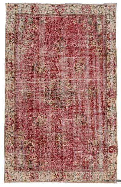 "Turkish Vintage Area Rug - 5'5"" x 8'9"" (65 in. x 105 in.)"