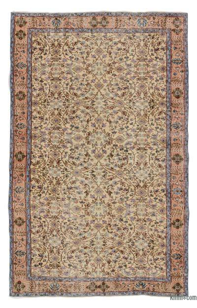 Turkish Vintage Area Rug - 5'5'' x 8'8'' (65 in. x 104 in.)