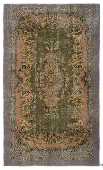 Turkish Vintage Rug - 6'3'' x 10'5'' (75 in. x 125 in.)