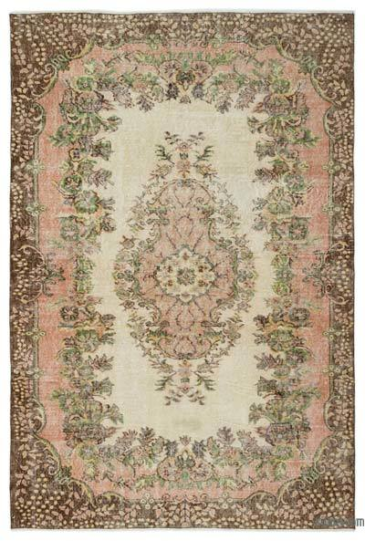 Turkish Vintage Area Rug - 5'9'' x 8'8'' (69 in. x 104 in.)