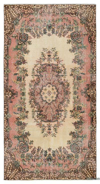 Turkish Vintage Area Rug - 3'7'' x 6'9'' (43 in. x 81 in.)