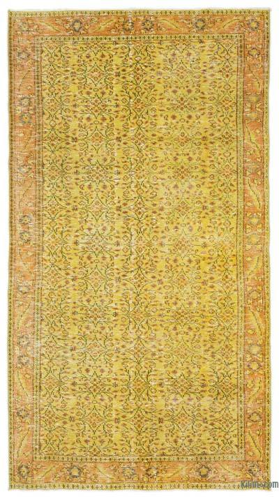 Yellow Over-dyed Turkish Vintage Rug - 4'10'' x 8'9'' (58 in. x 105 in.)
