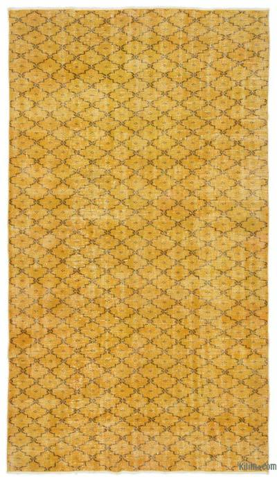 Yellow Over-dyed Turkish Vintage Rug - 5' x 8'10'' (60 in. x 106 in.)