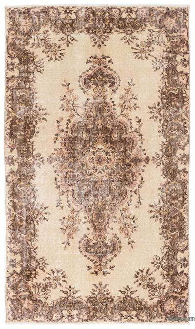 Beige Over-dyed Turkish Vintage Rug - 3'11'' x 6'9'' (47 in. x 81 in.)