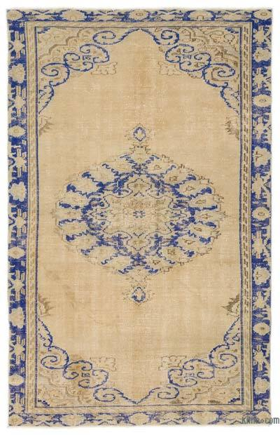 Over-dyed Turkish Vintage Rug - 5'1'' x 8'2'' (61 in. x 98 in.)