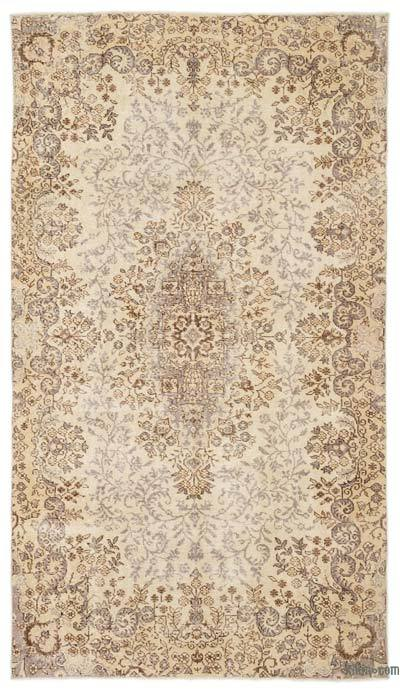 "Over-dyed Turkish Vintage Rug - 5'4"" x 9'6"" (64 in. x 114 in.)"