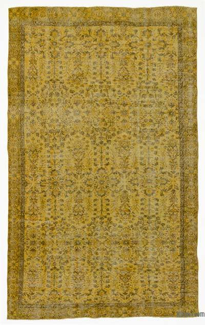 "Over-dyed Turkish Vintage Rug - 5'8"" x 9'9"" (68 in. x 117 in.)"