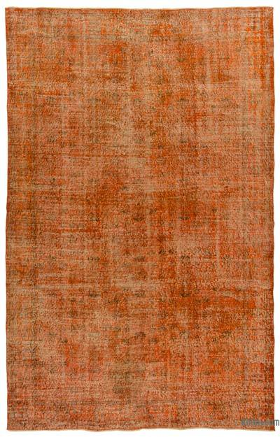 "Over-dyed Turkish Vintage Rug - 6'5"" x 9'11"" (77 in. x 119 in.)"