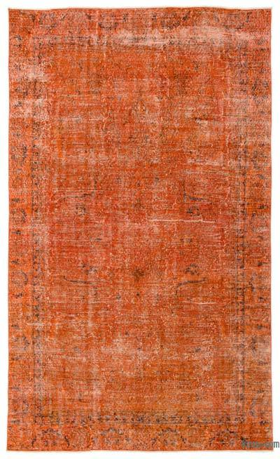 Orange Over-dyed Turkish Vintage Rug - 5'9'' x 9'8'' (69 in. x 116 in.)