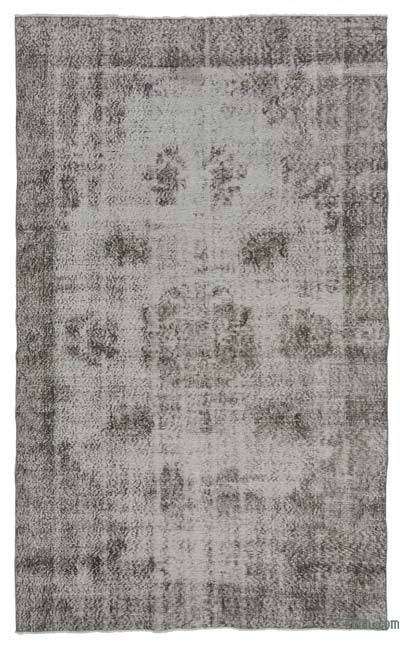"Over-dyed Turkish Vintage Rug - 5'1"" x 8'8"" (61 in. x 104 in.)"