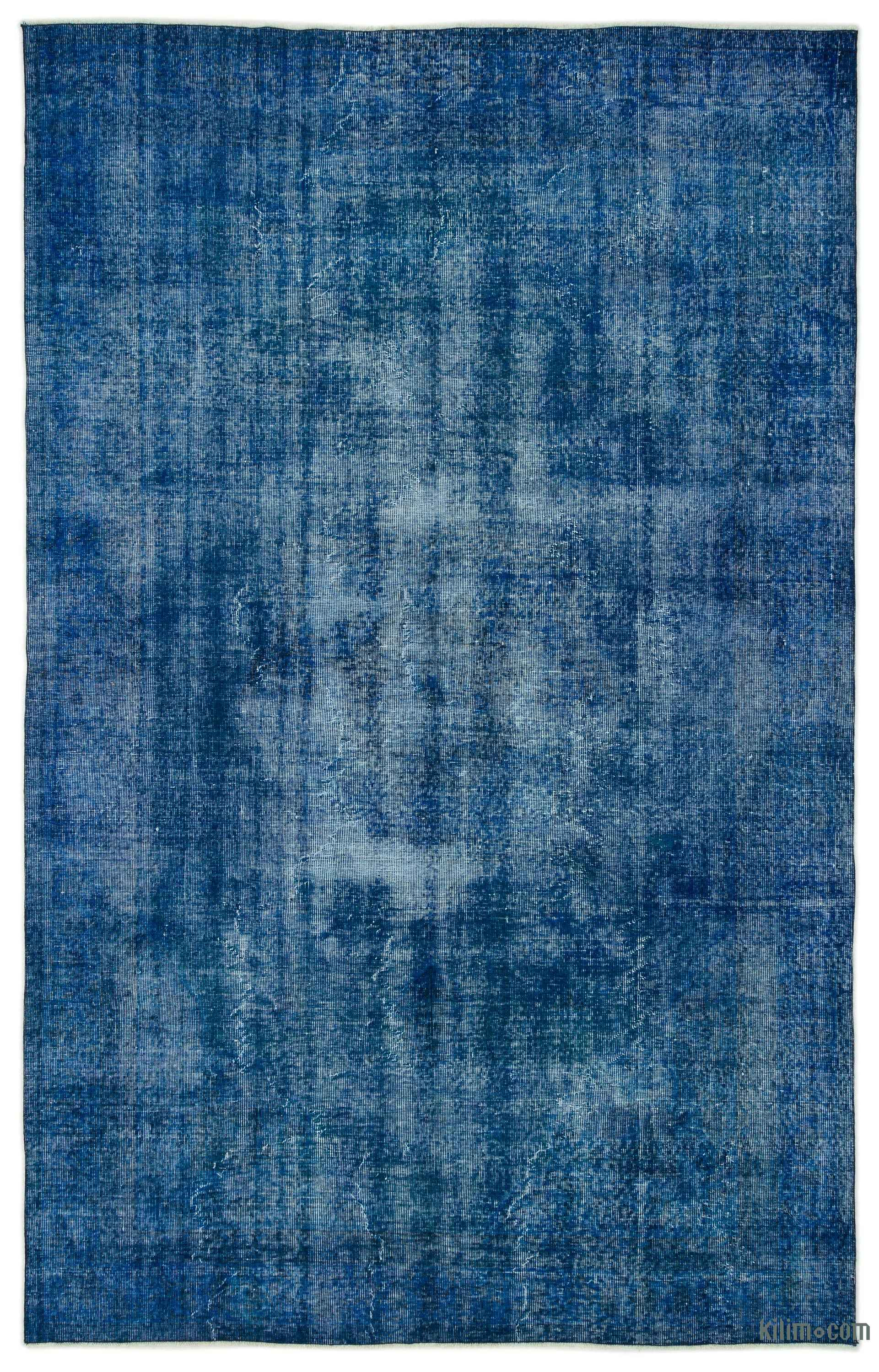 Blue Over Dyed Turkish Vintage Rug 6 4 X 10 1 76 In 121