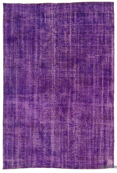 Purple Over-dyed Turkish Vintage Rug - 7' x 10'7'' (84 in. x 127 in.)
