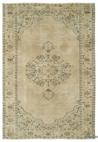 "Over-dyed Turkish Vintage Rug - 5'11"" x 8'11"" (71 in. x 107 in.)"