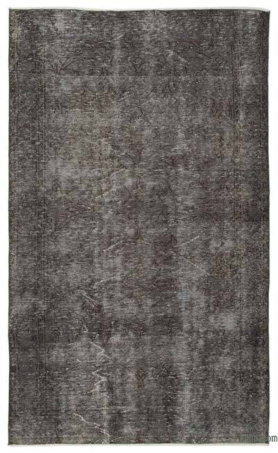Grey Over-dyed Turkish Vintage Rug - 5'6'' x 9'2'' (66 in. x 110 in.)