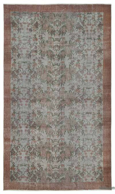 Turkish Vintage Area Rug - 5'4'' x 9'6'' (64 in. x 114 in.)