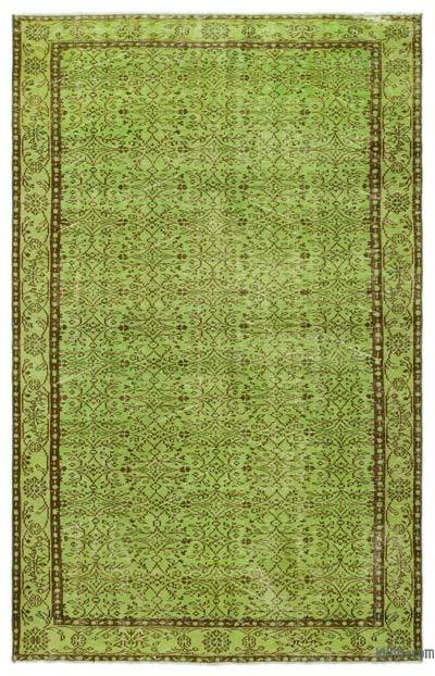 "Over-dyed Turkish Vintage Rug - 6' x 9'4"" (72 in. x 112 in.)"