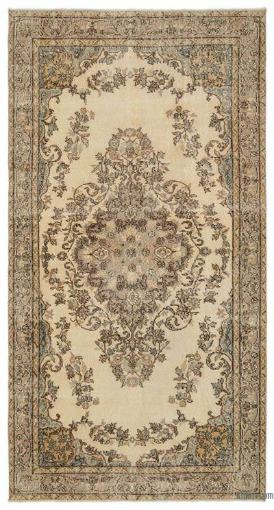 "Over-dyed Turkish Vintage Rug - 5'7"" x 10'6"" (67 in. x 126 in.)"
