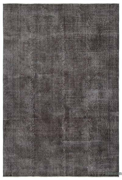 Grey Over-dyed Turkish Vintage Rug - 6'9'' x 10'1'' (81 in. x 121 in.)