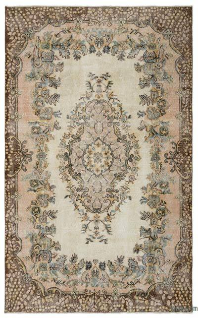 Turkish Vintage Area Rug - 5'7'' x 9'1'' (67 in. x 109 in.)