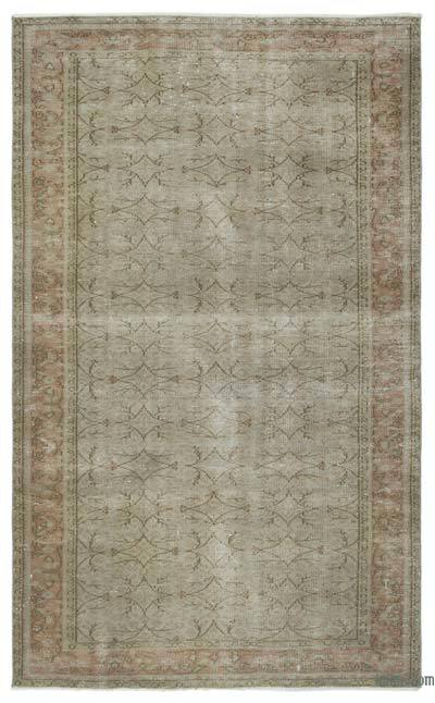"Over-dyed Turkish Vintage Rug - 5'2"" x 8'5"" (62 in. x 101 in.)"