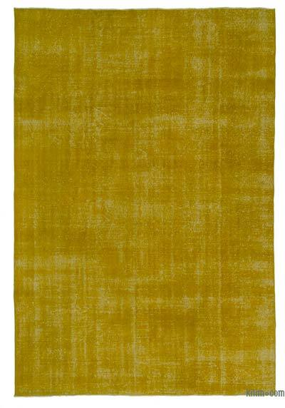 Yellow Over-dyed Turkish Vintage Rug - 6'9'' x 10'2'' (81 in. x 122 in.)