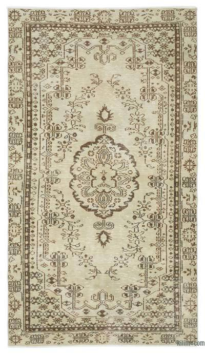 "Over-dyed Turkish Vintage Rug - 4'5"" x 7'10"" (53 in. x 94 in.)"