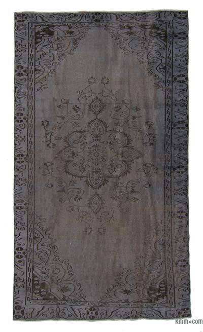 Grey Over-dyed Turkish Vintage Rug - 4'9'' x 8'3'' (57 in. x 99 in.)