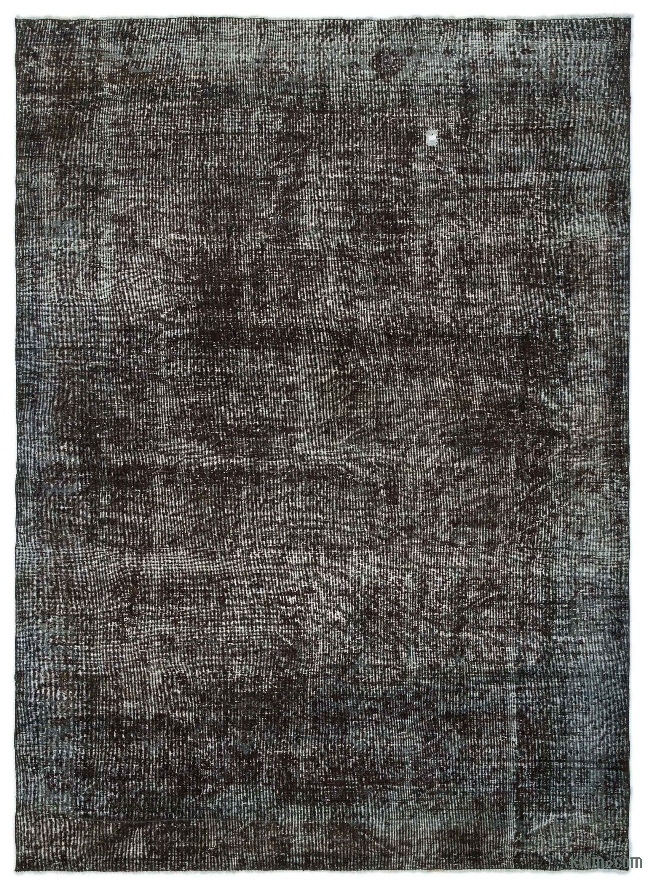 Design Black Rug k0024366 black over dyed turkish vintage rug kilim rugs rug