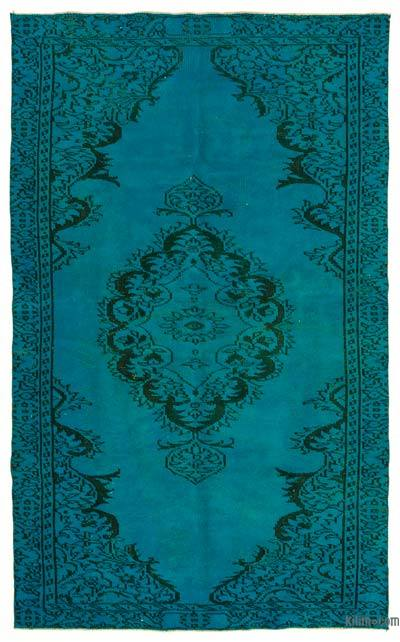 "Over-dyed Turkish Vintage Rug - 5'2"" x 8'8"" (62 in. x 104 in.)"
