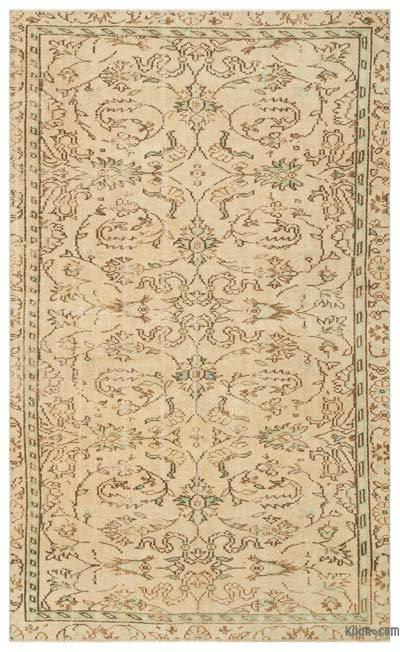 "Over-dyed Turkish Vintage Rug - 4'11"" x 8' (59 in. x 96 in.)"