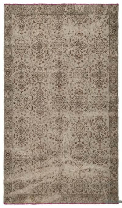Grey Over-dyed Turkish Vintage Rug - 5'7'' x 9'8'' (67 in. x 116 in.)