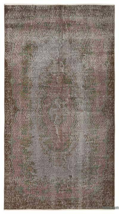 "Over-dyed Turkish Vintage Rug - 3'7"" x 6'8"" (43 in. x 80 in.)"