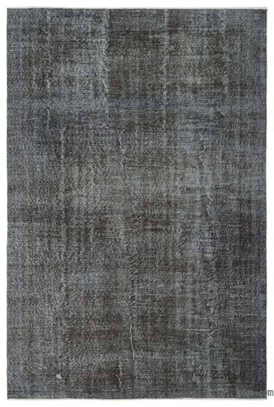 Grey Over-dyed Turkish Vintage Rug - 6'10'' x 10' (82 in. x 120 in.)