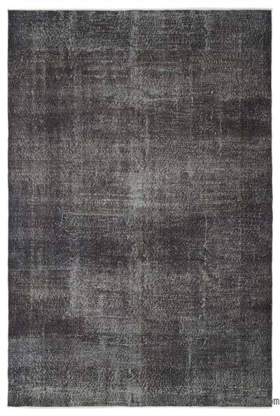 Grey Over-dyed Turkish Vintage Rug - 6'2'' x 9'5'' (74 in. x 113 in.)