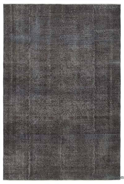 Grey Over-dyed Turkish Vintage Rug - 6'3'' x 9'5'' (75 in. x 113 in.)
