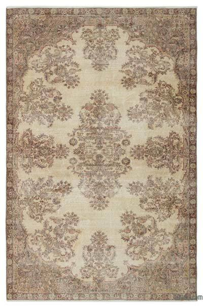 "Over-dyed Turkish Vintage Rug - 6'5"" x 9'10"" (77 in. x 118 in.)"