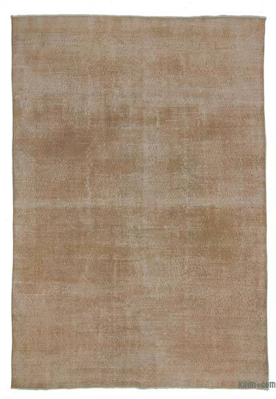 Orange Over-dyed Turkish Vintage Rug - 6'8'' x 9'8'' (80 in. x 116 in.)